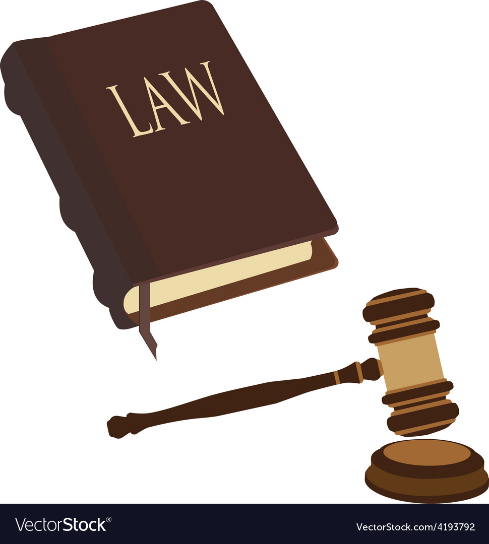 Law book and gavel vector | Price: 1 Credit (USD $1)
