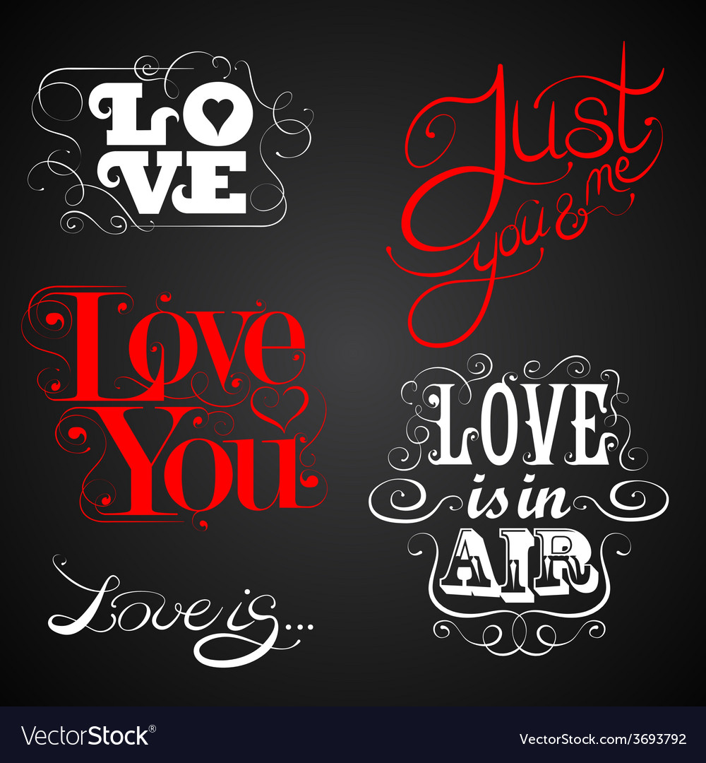 Love custom handmade calligraphy vector | Price: 1 Credit (USD $1)