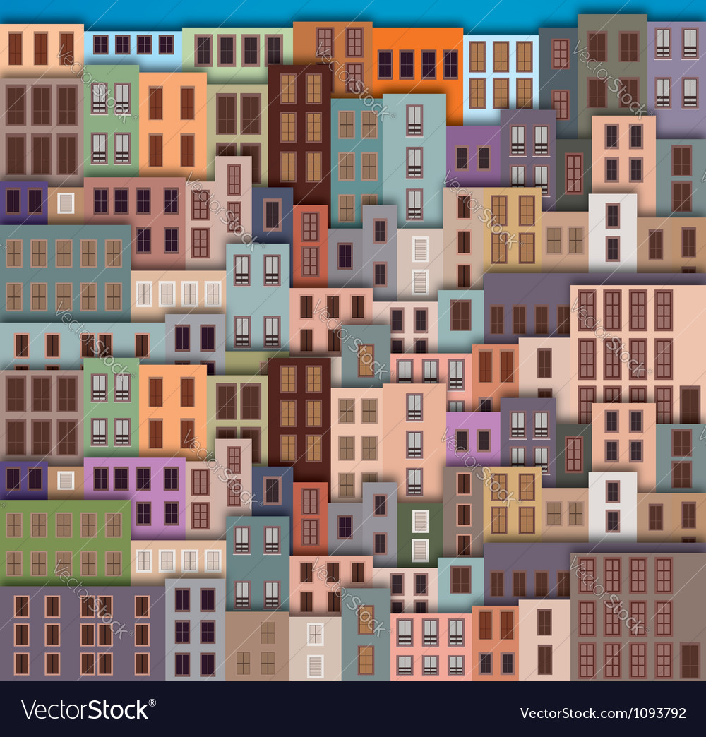Old city vector | Price: 1 Credit (USD $1)