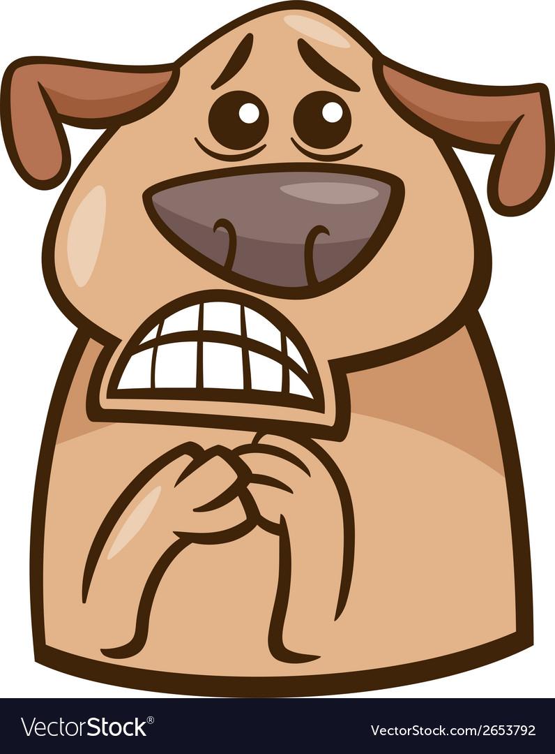 Terrified dog cartoon vector | Price: 1 Credit (USD $1)