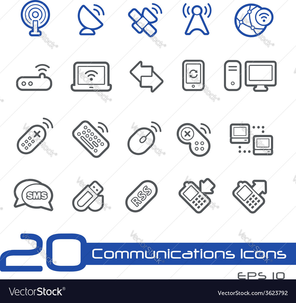 Wireless communications outline series vector | Price: 1 Credit (USD $1)