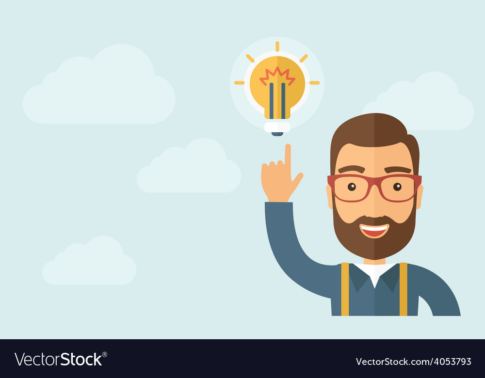 Businessman get the idea vector | Price: 1 Credit (USD $1)