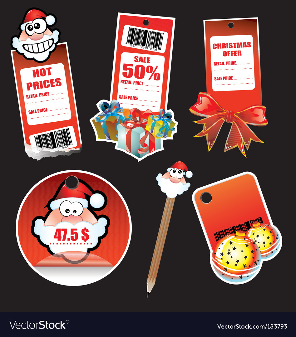 Christmas stickers vector | Price: 3 Credit (USD $3)