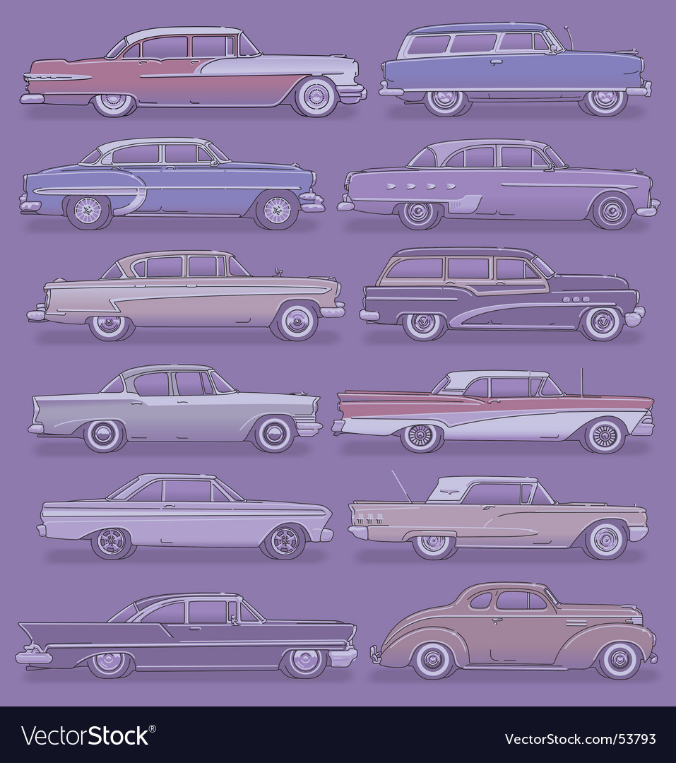 Classic cars vector | Price: 3 Credit (USD $3)