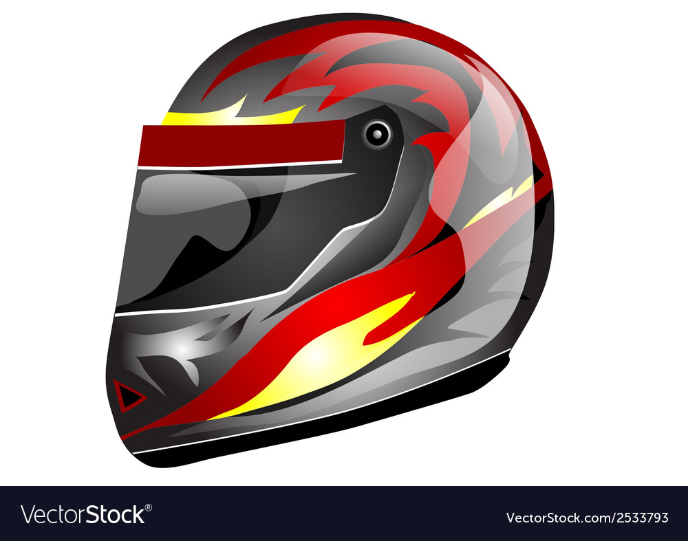 Crash helmet vector | Price: 1 Credit (USD $1)