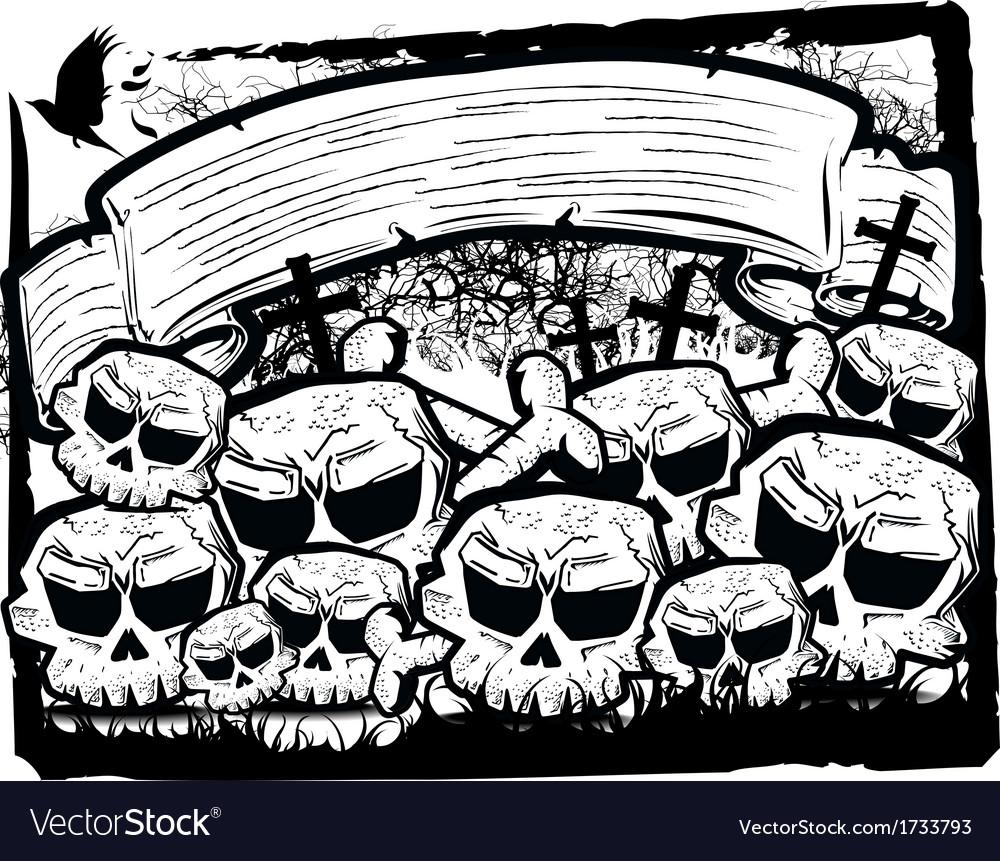 Detailed cartoon skull vector | Price: 1 Credit (USD $1)