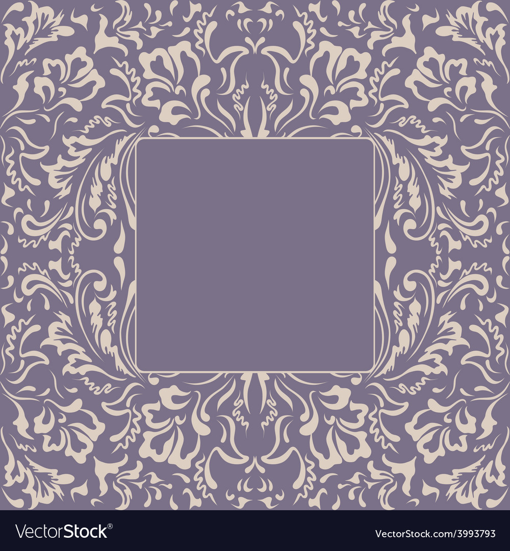 Frame floral plant background vector | Price: 1 Credit (USD $1)