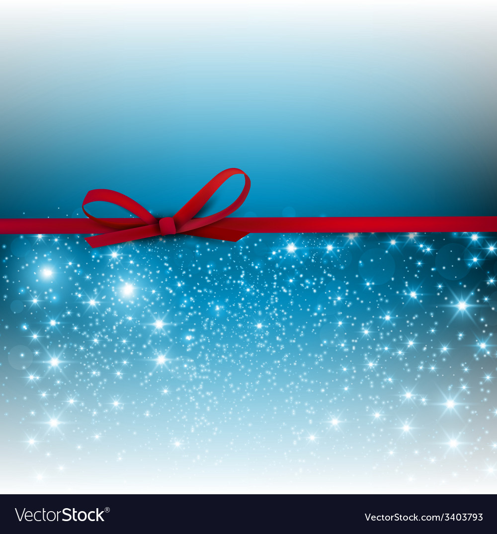 Gorgeous blue background with red bow and copy vector | Price: 1 Credit (USD $1)