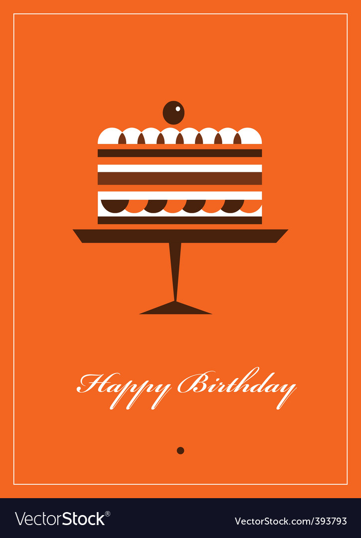 Happy birthday card template vector | Price: 1 Credit (USD $1)