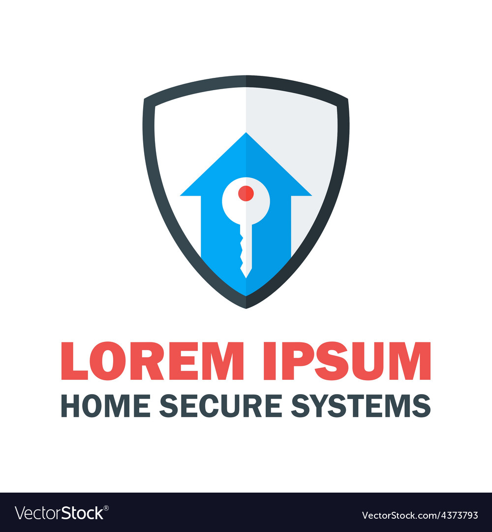 Home security system logo vector | Price: 1 Credit (USD $1)