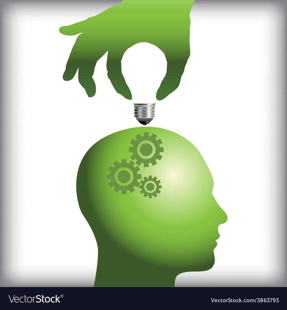 Idea from human thought process vector | Price: 1 Credit (USD $1)