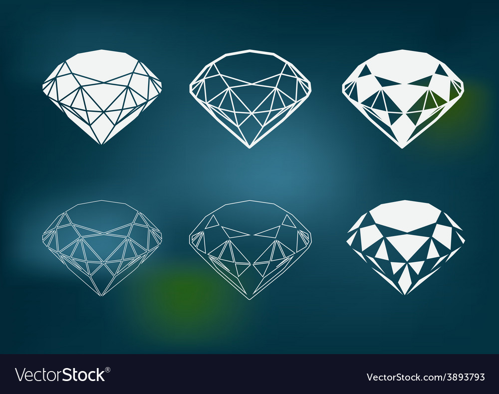 New diamond set vector | Price: 1 Credit (USD $1)