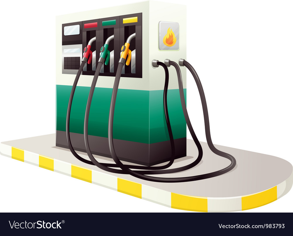Petrol dispenser unit vector | Price: 1 Credit (USD $1)