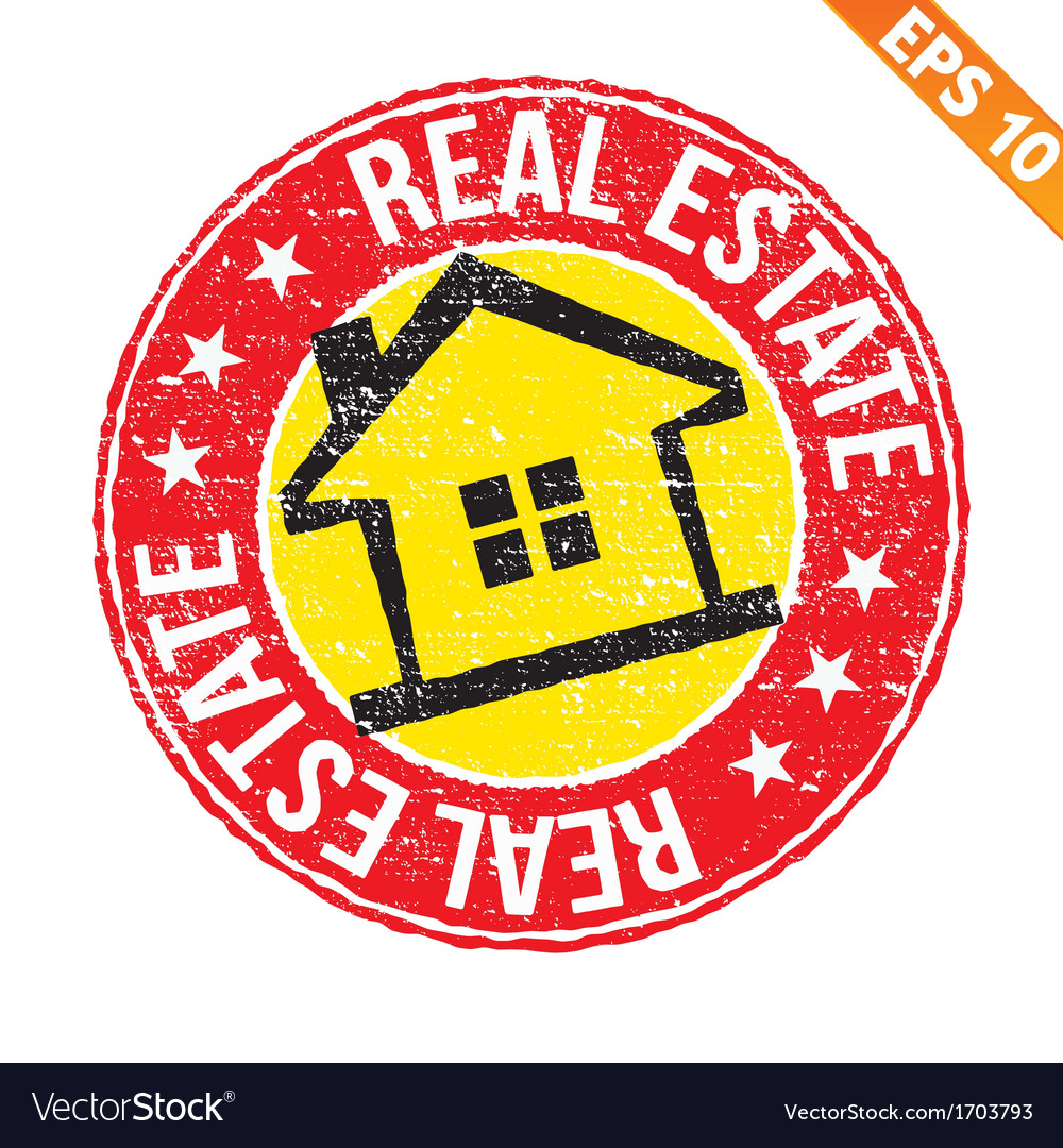 Stamp sticker real estate collection - - ep vector | Price: 1 Credit (USD $1)