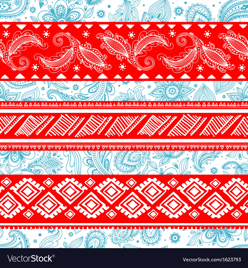 Tribal vintage ethnic pattern seamless vector | Price: 1 Credit (USD $1)