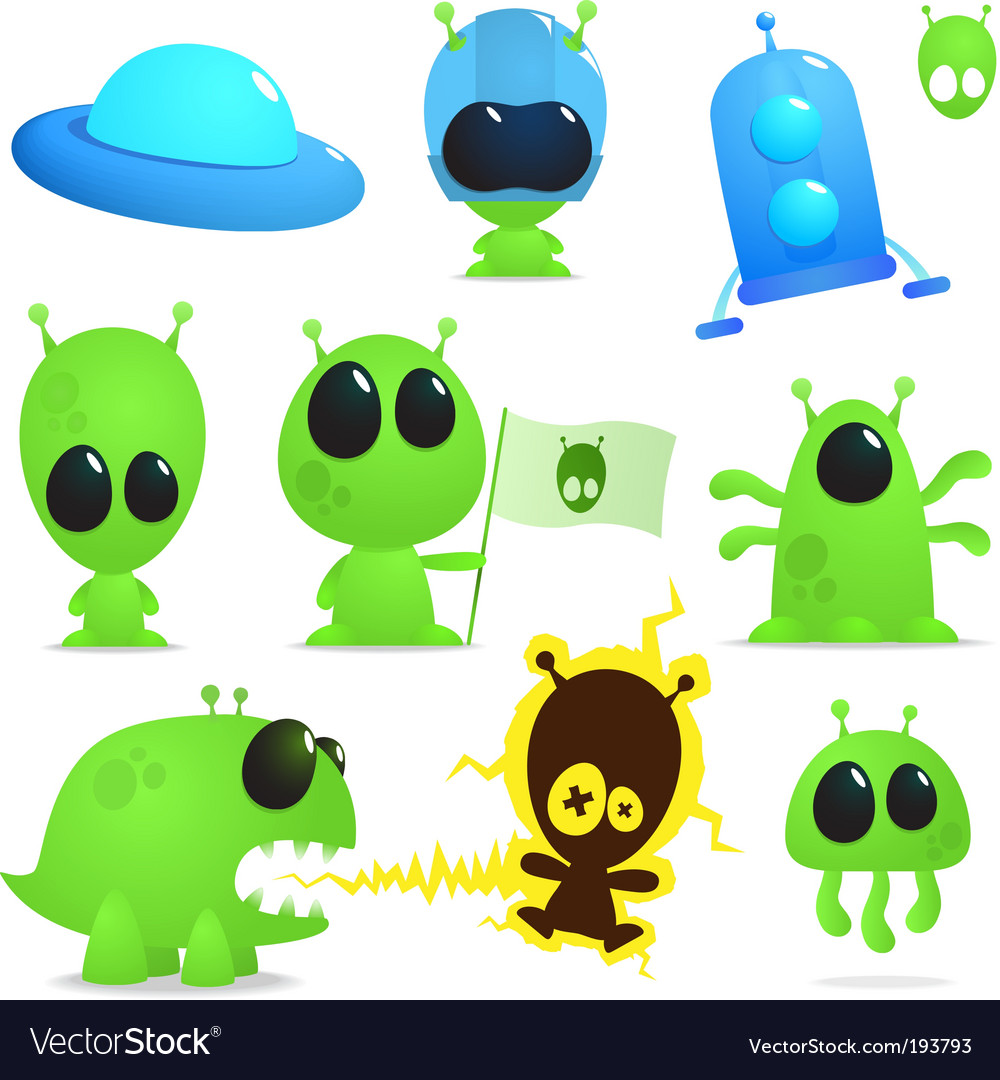 Ufo collection vector | Price: 1 Credit (USD $1)