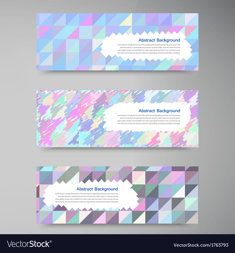 Wed banners set color elemet and square vector | Price: 1 Credit (USD $1)