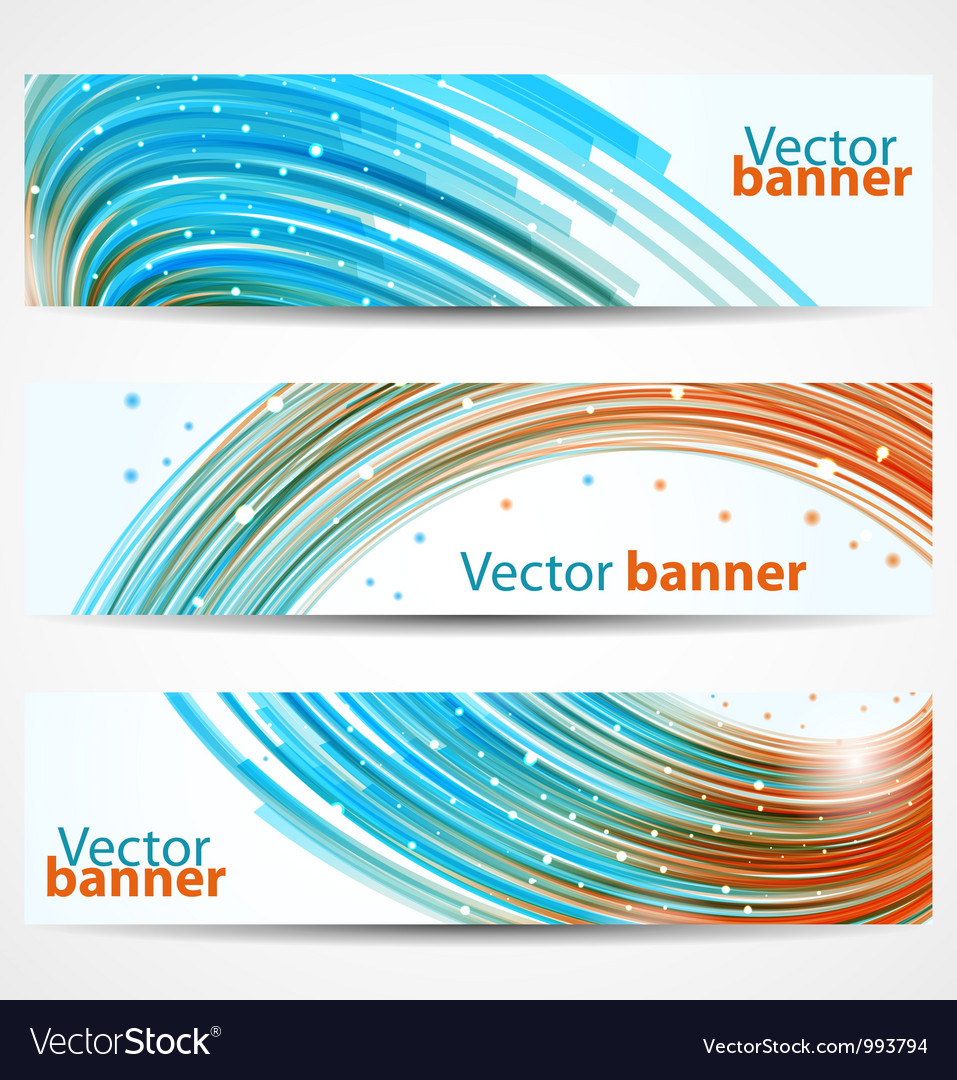 Abstract banners or headers vector | Price: 1 Credit (USD $1)