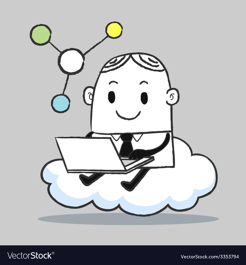 Business man cloud vector | Price: 1 Credit (USD $1)