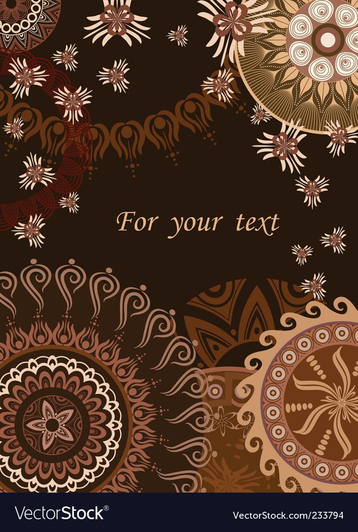 Chocolate postcard vector | Price: 1 Credit (USD $1)