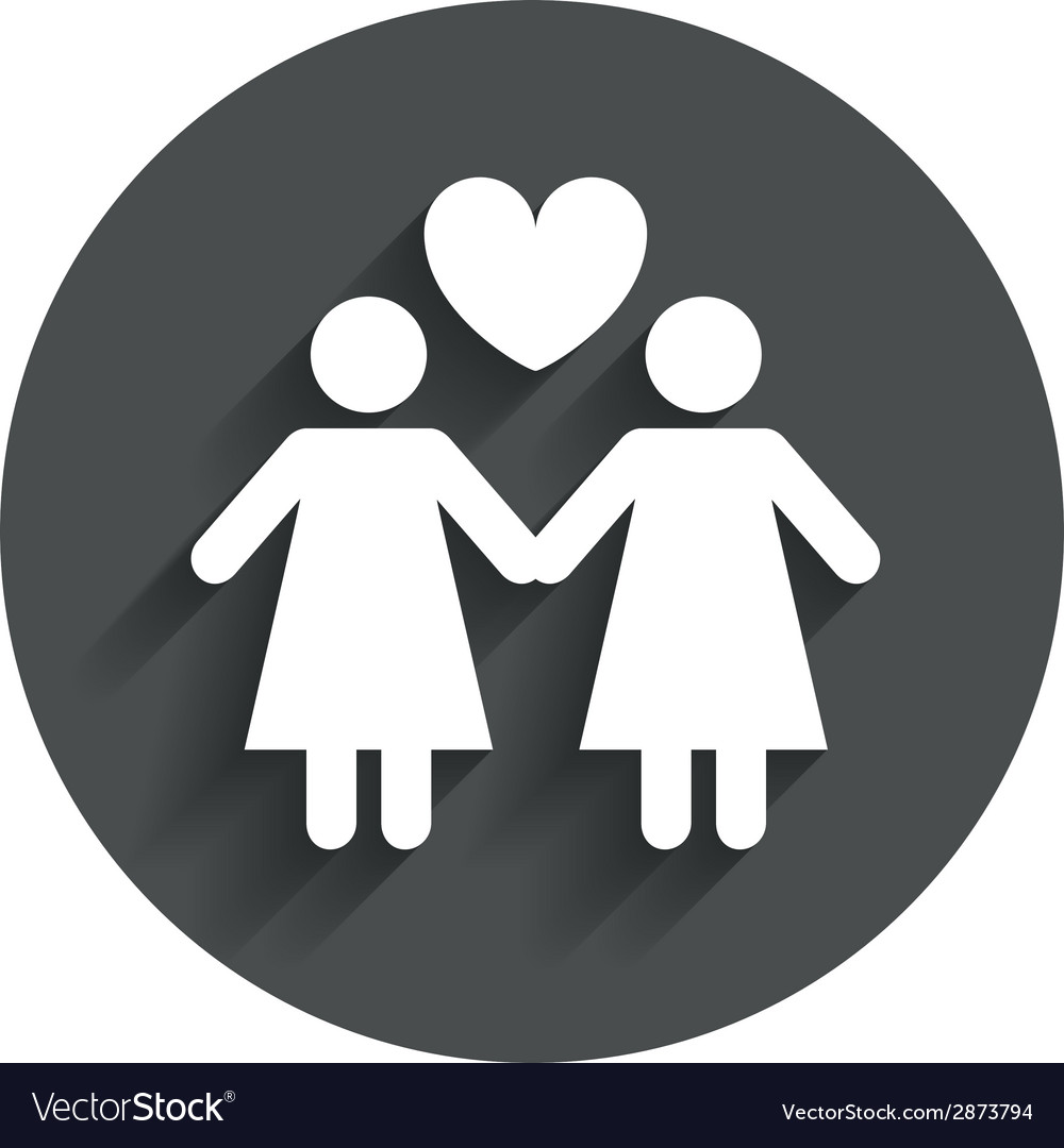 Couple sign icon woman love woman lesbians vector | Price: 1 Credit (USD $1)