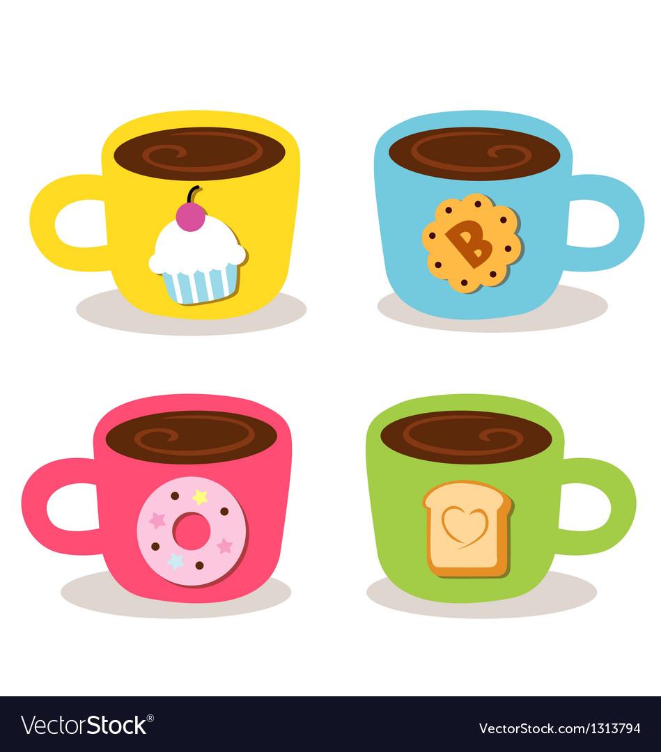 Cute cup coffee bekery vector | Price: 3 Credit (USD $3)