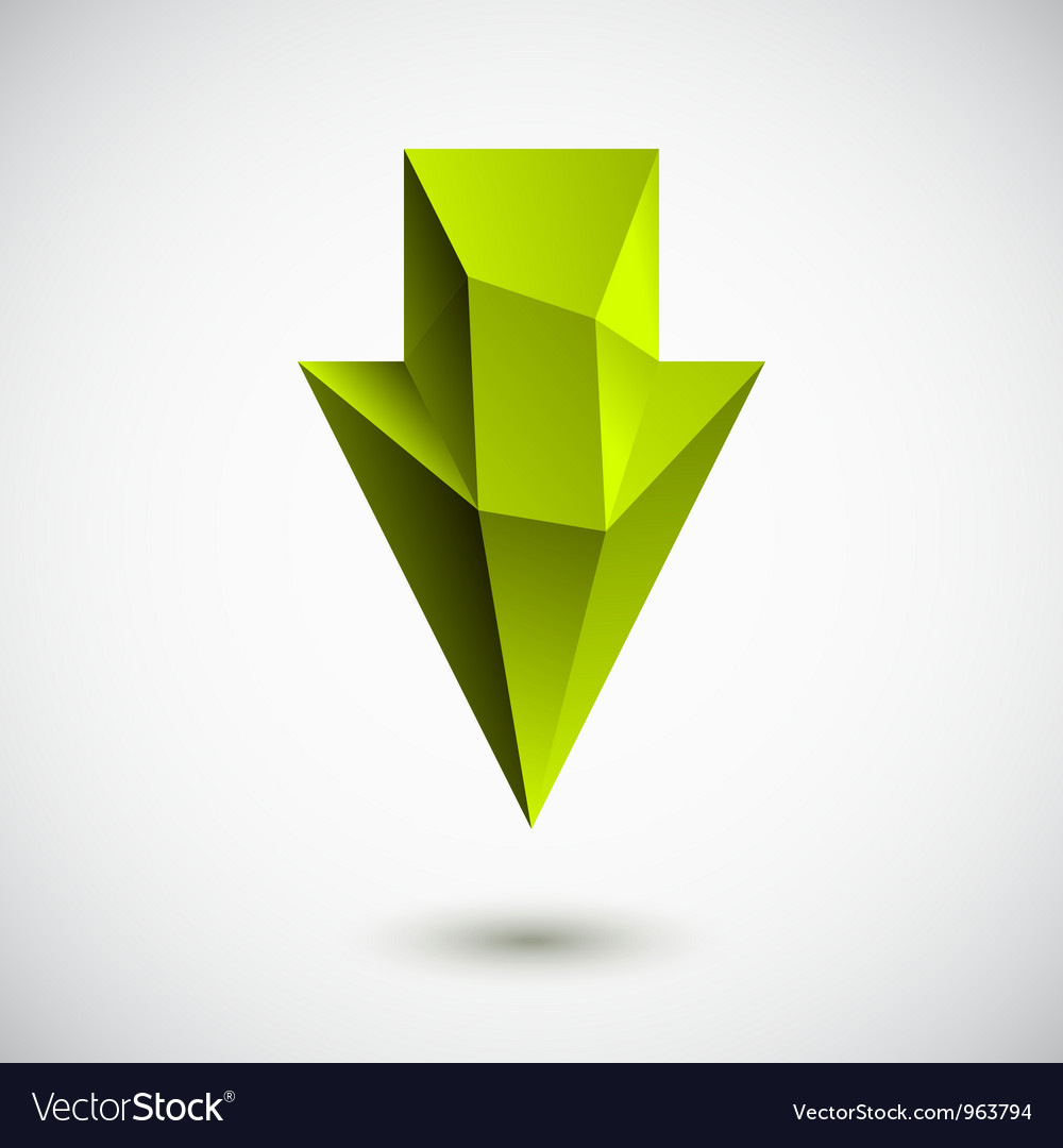 Down green arrow vector | Price: 1 Credit (USD $1)