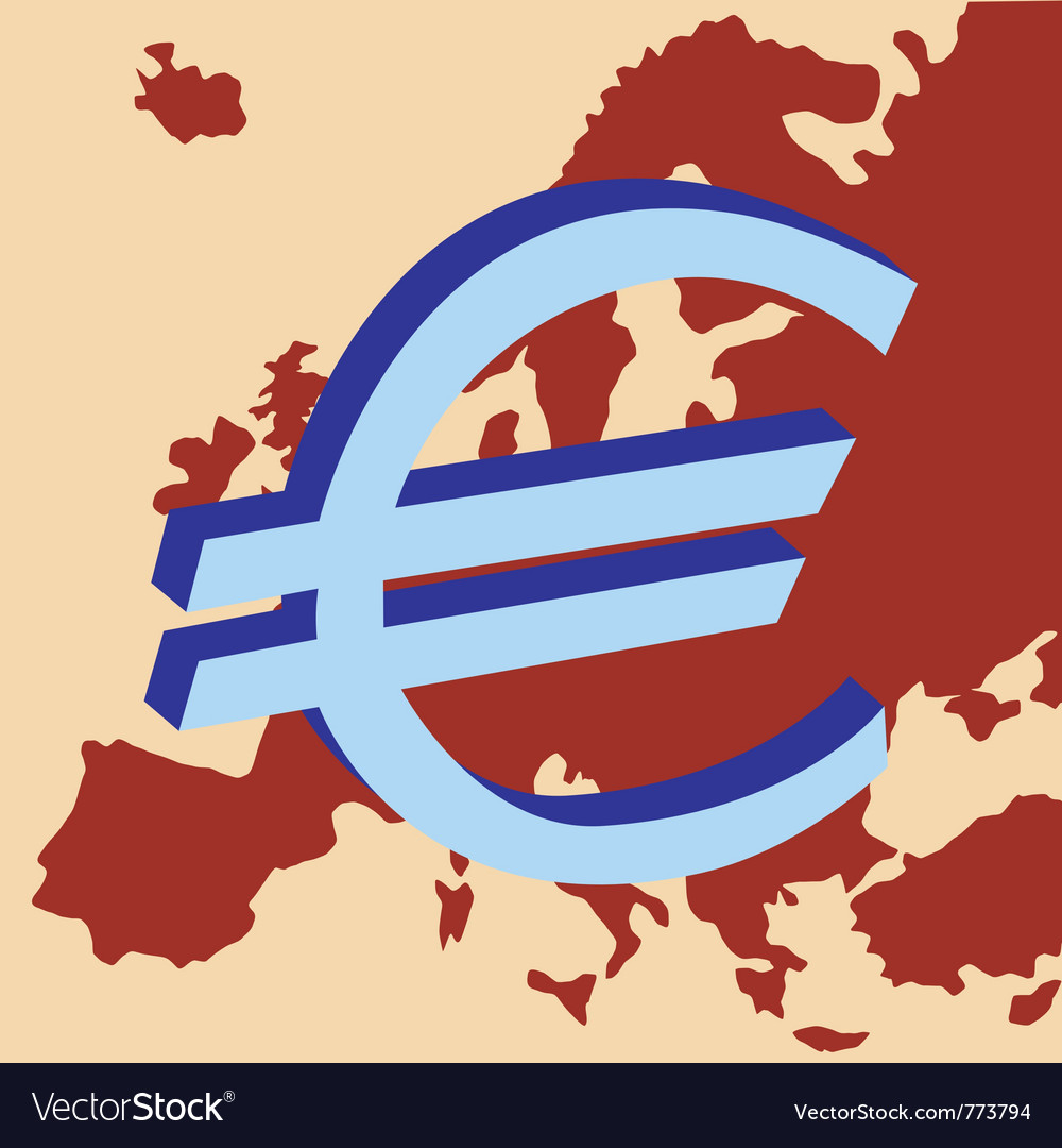 Europe currency vector | Price: 1 Credit (USD $1)