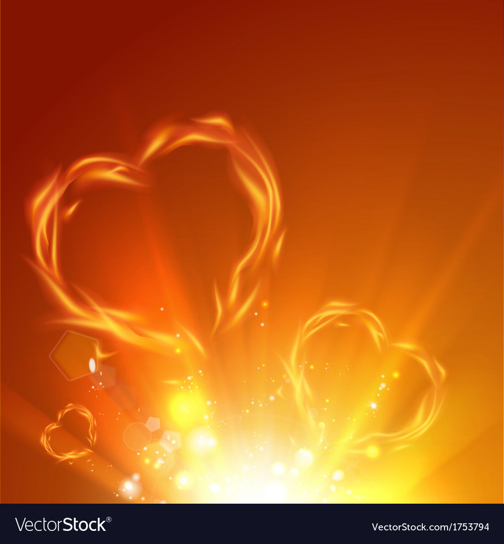Fire love hearts vector | Price: 1 Credit (USD $1)