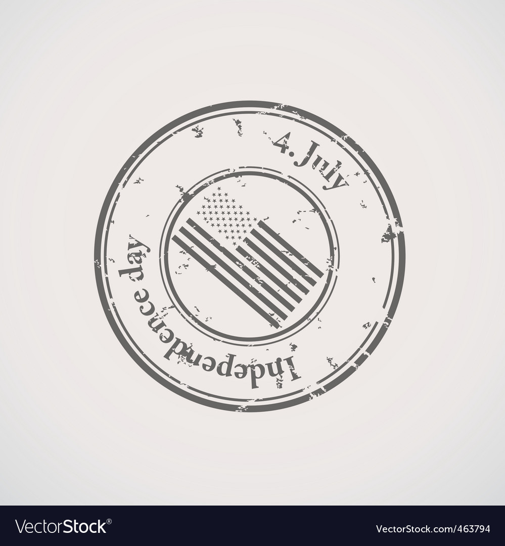 Independence day stamp vector | Price: 1 Credit (USD $1)