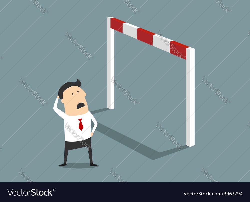 Insurmountable business problem vector | Price: 1 Credit (USD $1)