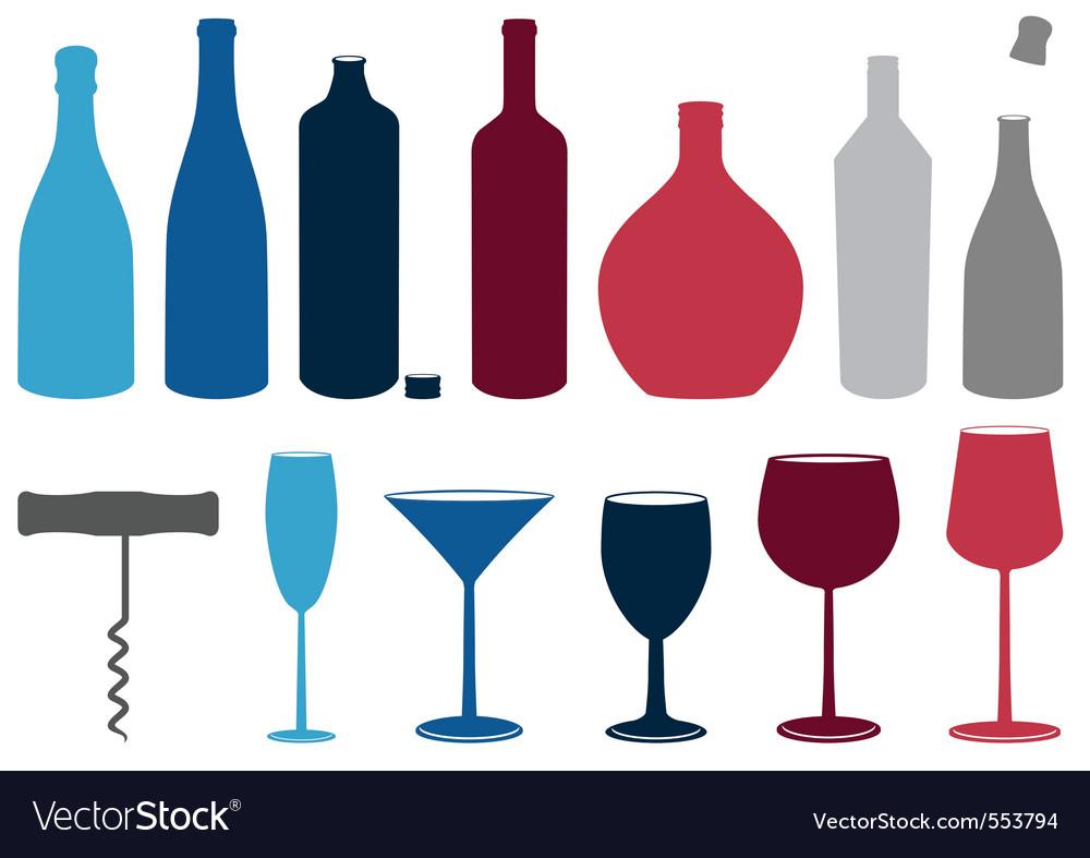 Liquor bottles vector | Price: 1 Credit (USD $1)