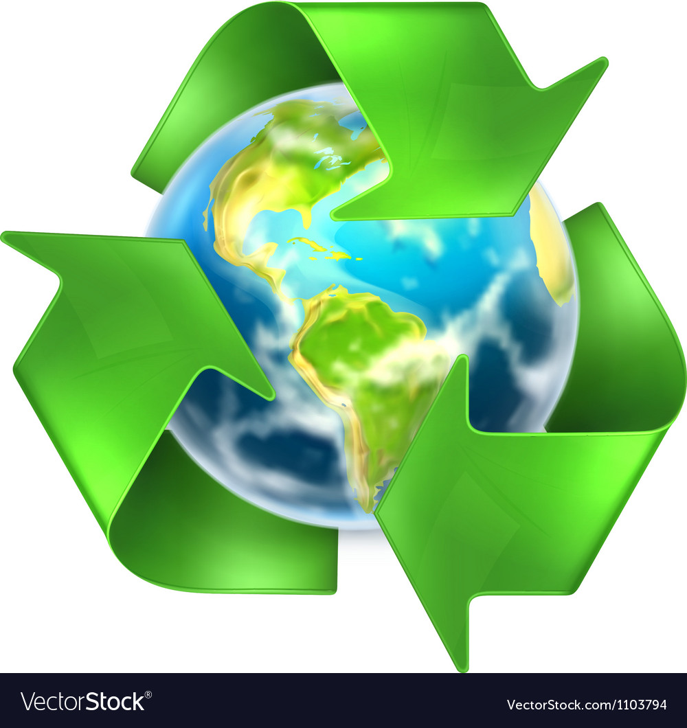 Recycling earth vector | Price: 1 Credit (USD $1)