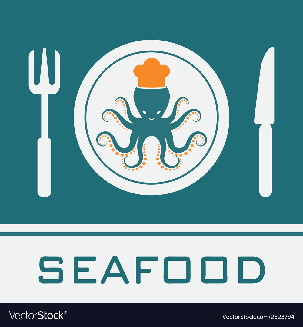 Squid fork and knife vector | Price: 1 Credit (USD $1)