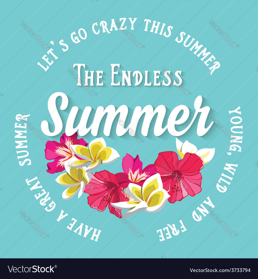 Summer postertypography vector | Price: 1 Credit (USD $1)