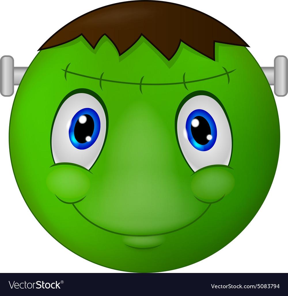 Zombie emoticon smiley vector