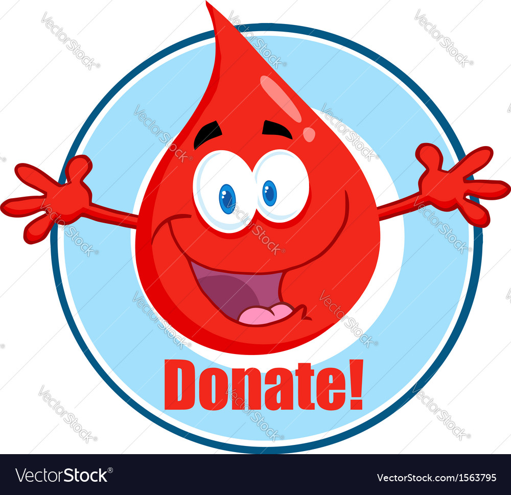 Blood donation cartoon vector | Price: 1 Credit (USD $1)