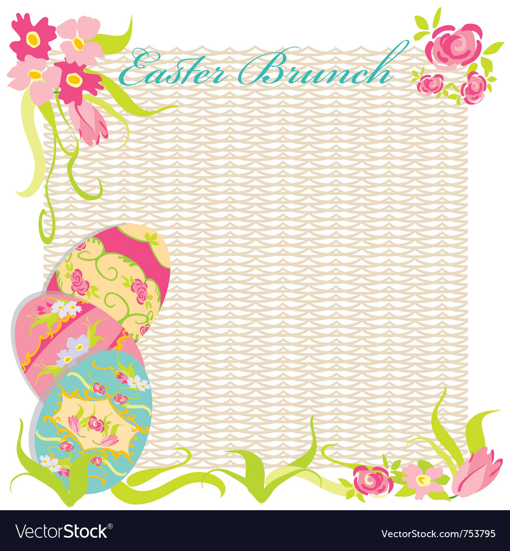 Easter brunch invitation party vector | Price: 1 Credit (USD $1)