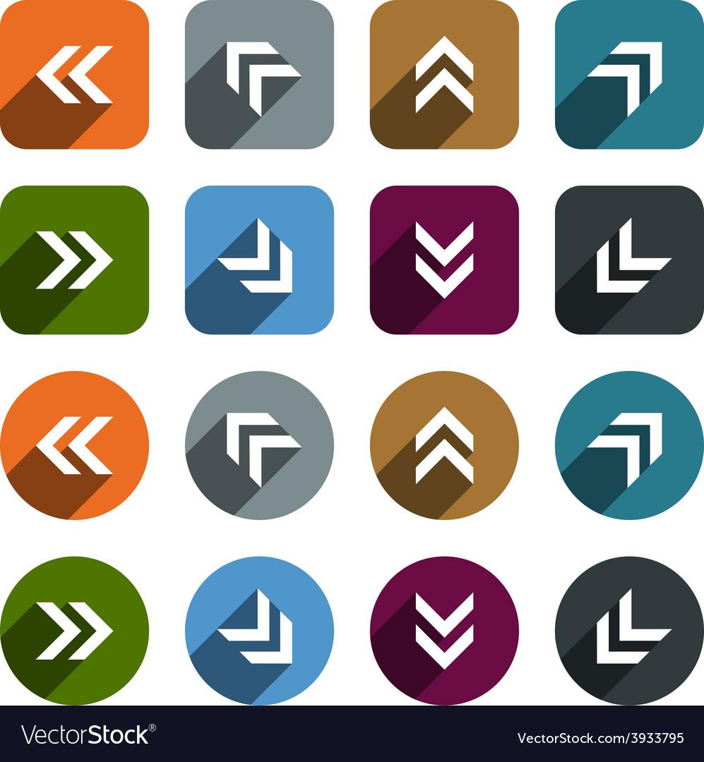 Flat arrow icons vector | Price: 1 Credit (USD $1)