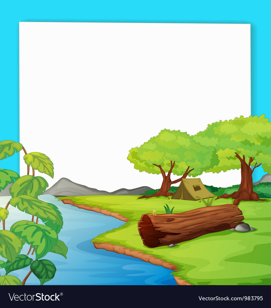 Forest border vector | Price: 3 Credit (USD $3)