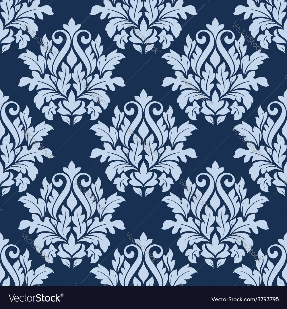 Light blue floral seamless pattern vector | Price: 1 Credit (USD $1)