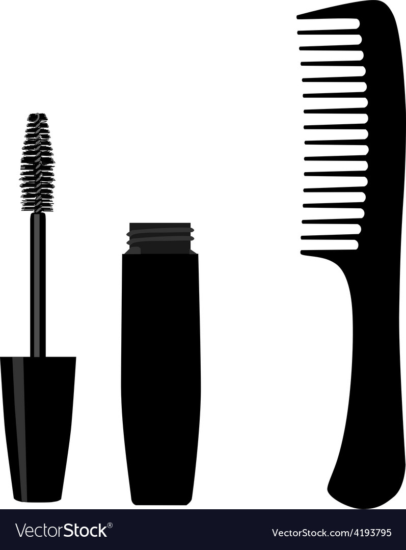 Mascara and comb vector | Price: 1 Credit (USD $1)