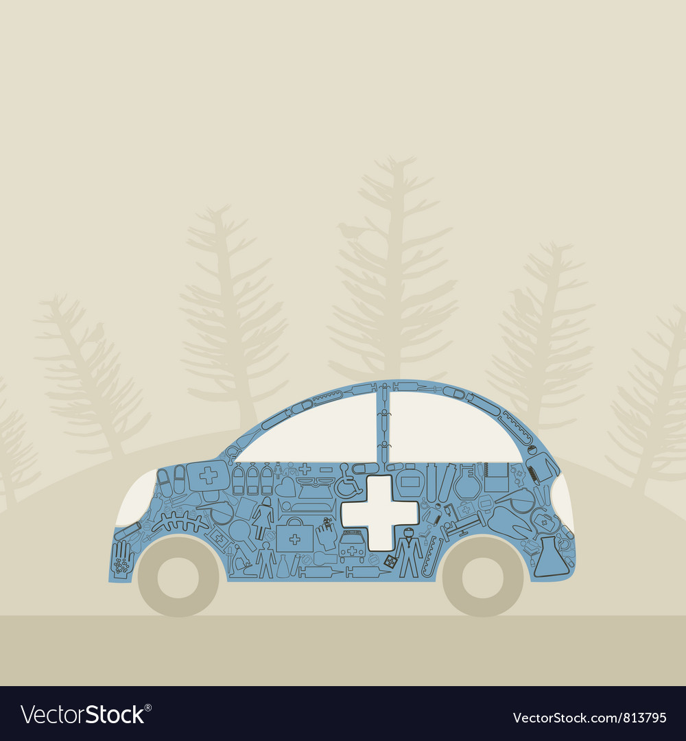 Medical car vector | Price: 1 Credit (USD $1)