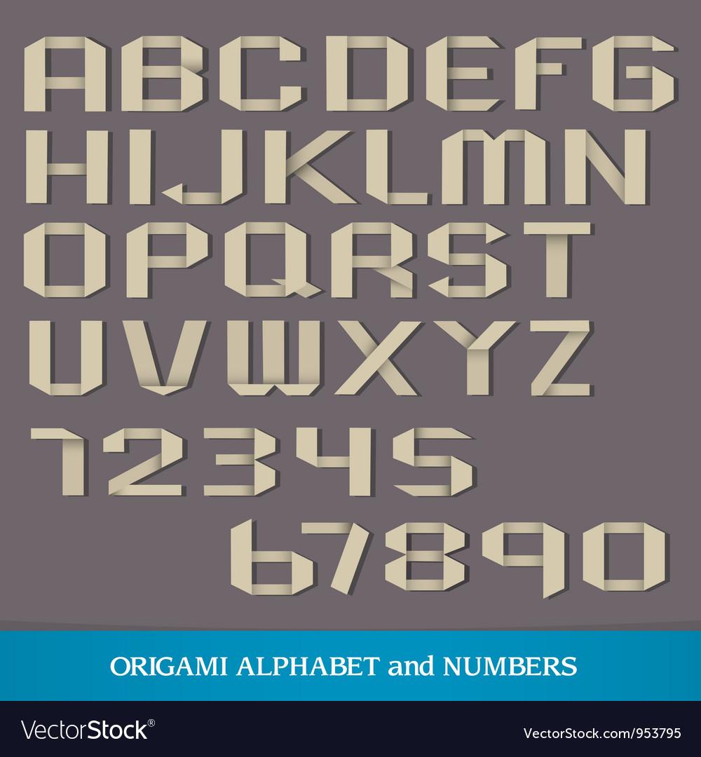 Origami alphabet vector | Price: 1 Credit (USD $1)