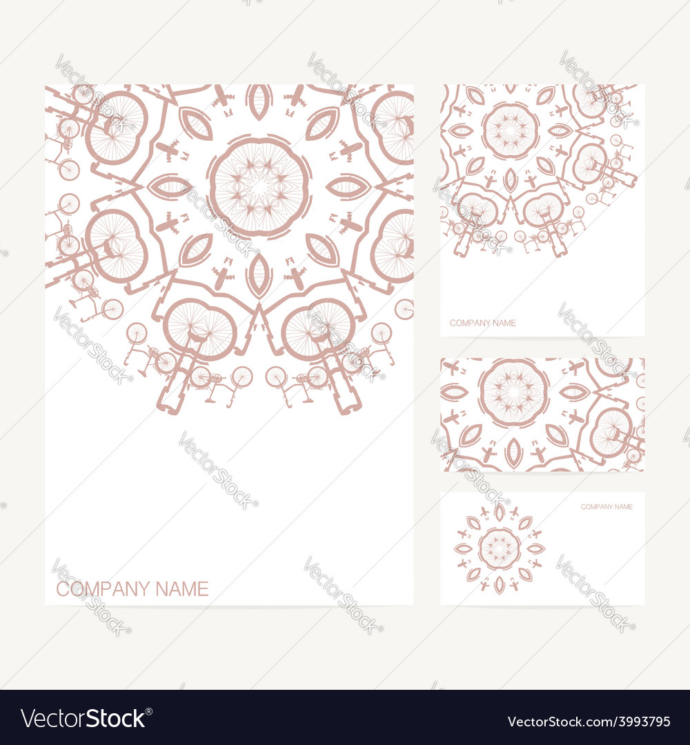 Set of business card and invitation card templates vector | Price: 1 Credit (USD $1)