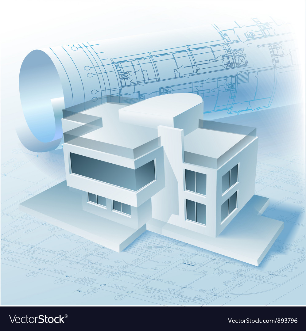 Architectural building model vector | Price: 3 Credit (USD $3)