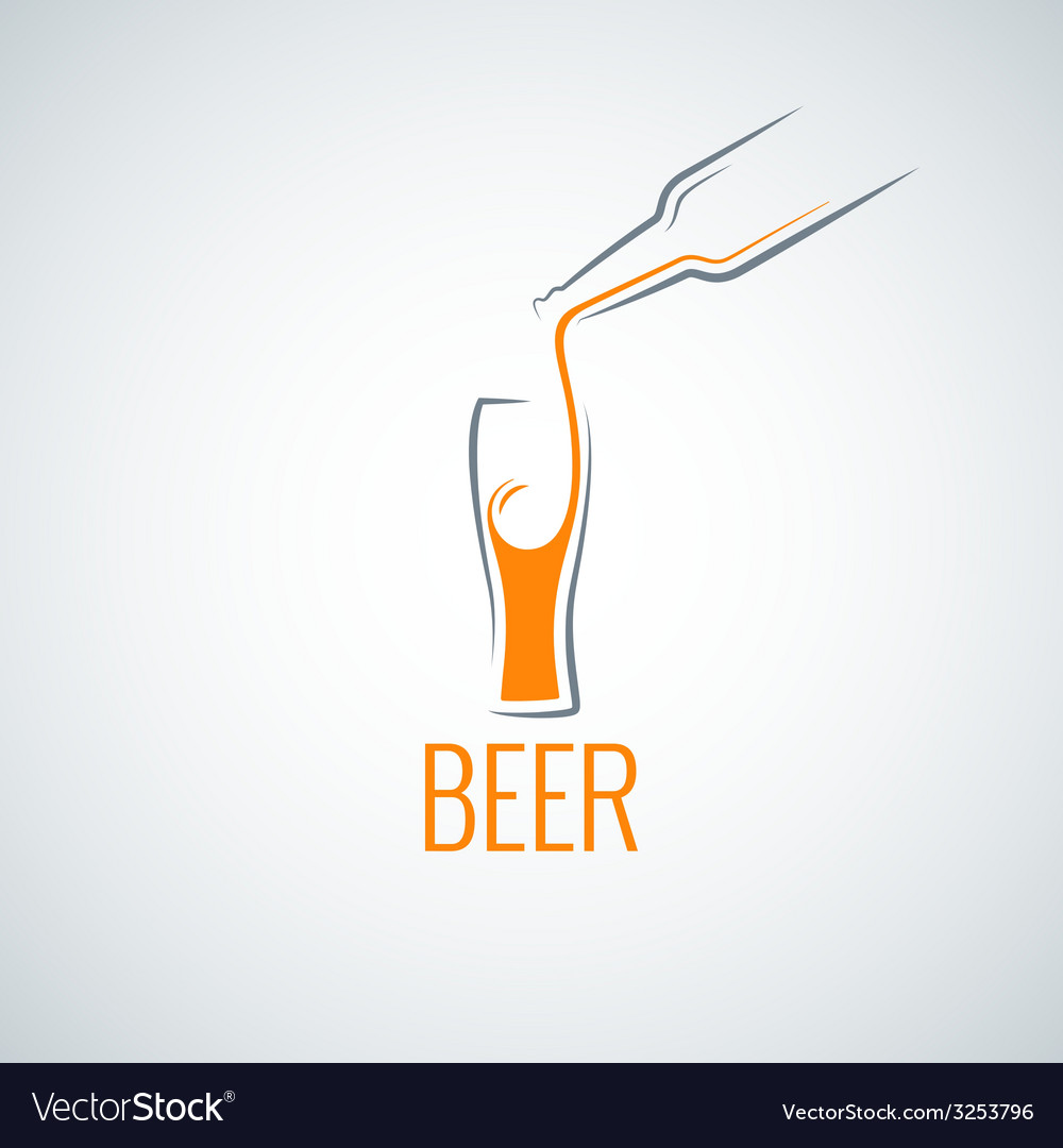 Beer glass bottle menu background vector | Price: 1 Credit (USD $1)
