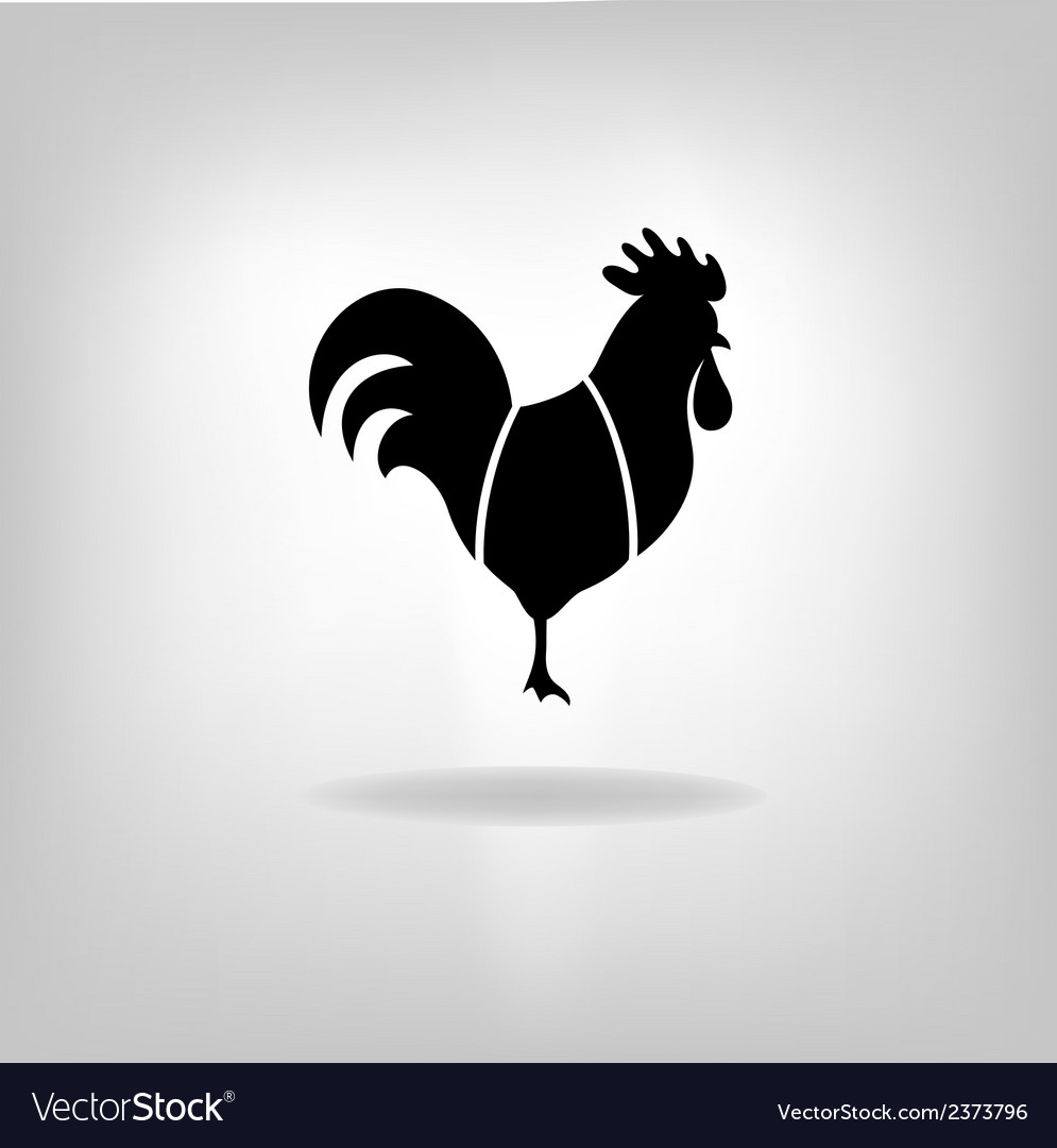 The black stylized cocks on a white background vector | Price: 1 Credit (USD $1)