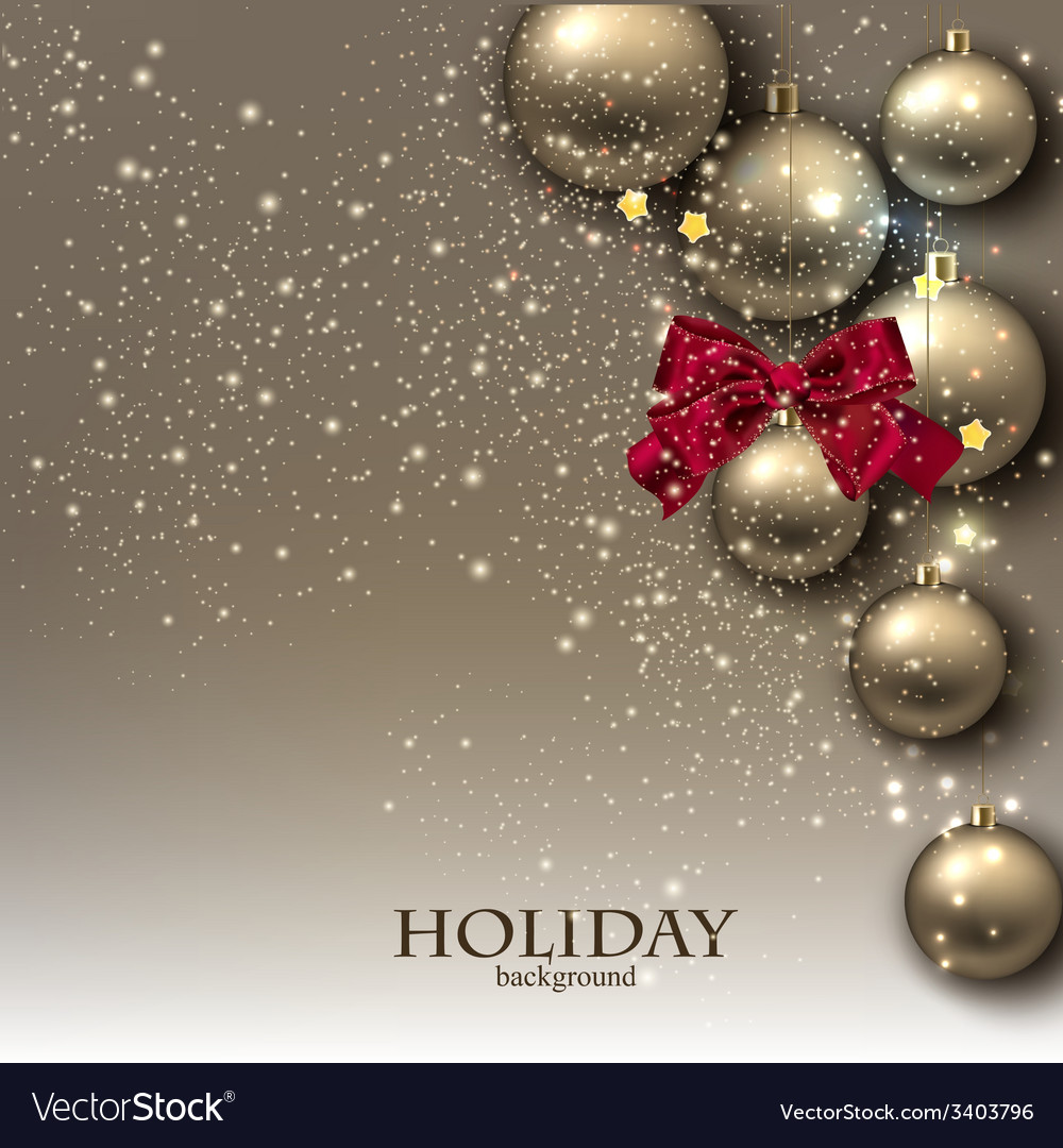 Christmas background with balls golden xmas vector   Price: 3 Credit (USD $3)