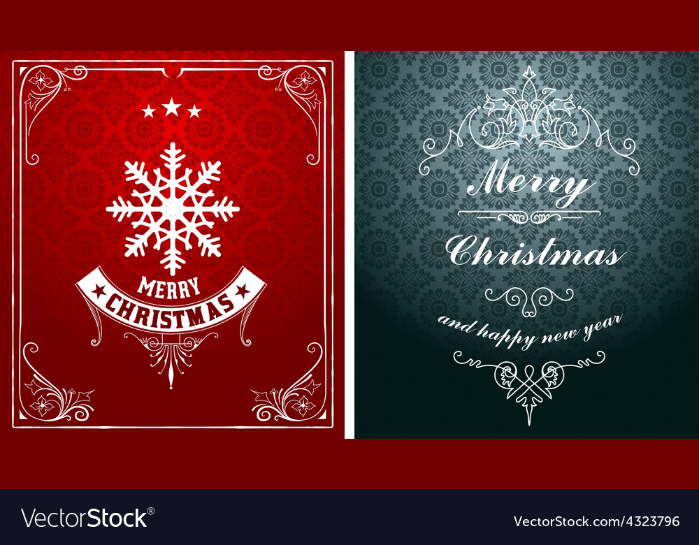 Christmas typographic label for xmas and new year vector | Price: 1 Credit (USD $1)